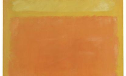 'Untitled (Yellow, Orange, Yellow, Light Orange') de Rothko.