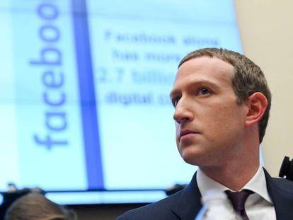 El fundador de Facebook, Mark Zuckerberg, el pasado miércoles en el Congreso de EE UU.