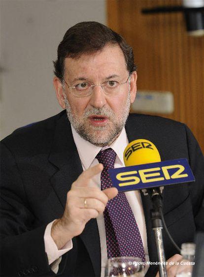 Mariano Rajoy, ayer en la cadena SER.