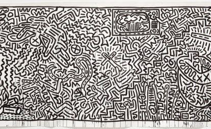 Untitled (1982), de Keith Haring, en el MoMA de Nueva York.