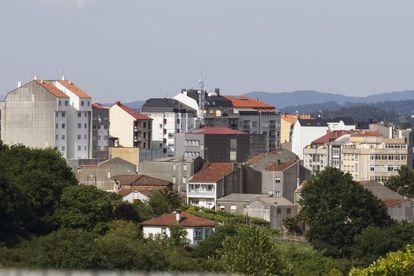 Vista general del casco urbano de A Estrada.
