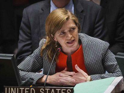 Samantha Power, embajadora de EE UU ante la ONU, en una imagen de archivo.