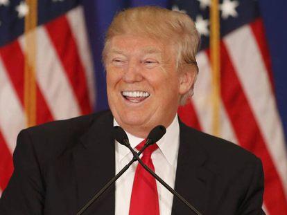 Donald Trump, en un acto de campaña para lograr la nominación republicana.