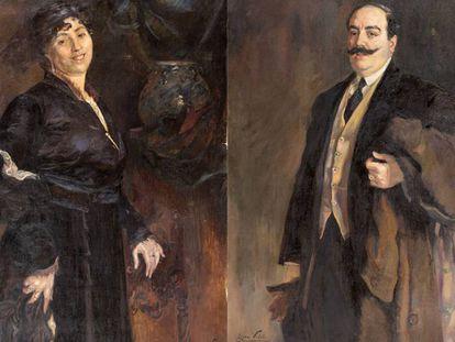 Remei Mallofré y su marido Josep Carreño Pujol, dos retratos de Lluïsa Vidal que pueden verse en la expo de Canet de Mar por primera vez.