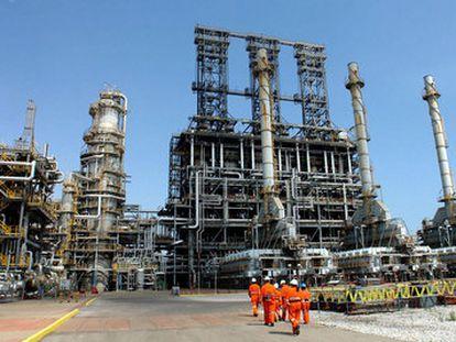 Una refinería de la petrolera estatal de Venezuela, PDVSA, en Puerto la Cruz, en la costa oriental del país.