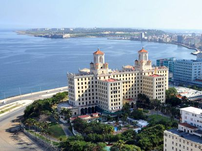 El hotel Nacional de Cuba, con sus espectaculares vistas de la bahía de La Habana, el malecón y la ciudad.