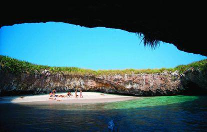 La Playa del Amor en el Pacífico mexicano.