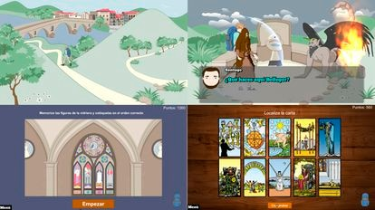 Capturas de diferentes instantes del videojuego Gamapea