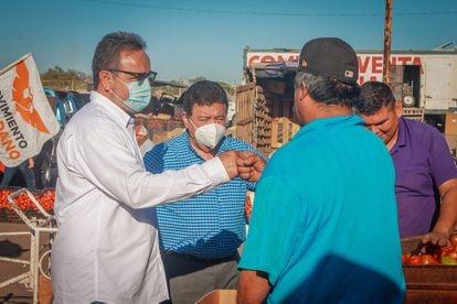 Abel Murrieta, durante la campaña electoral.