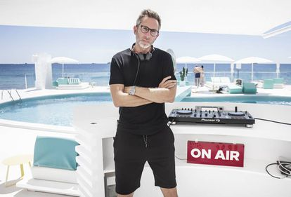 El DJ Oriol Calvo, en Ibiza