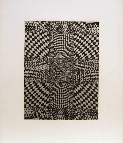 'Sin título' (1975, de Elena Asins, en la galería Elvira González.  