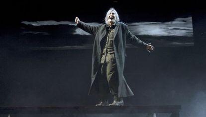 Núria Espert, en un momento de la representación de 'El Rei Lear'