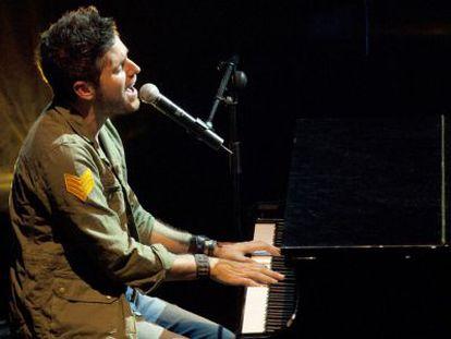 El cantante malagueño Pablo López durante una actuación.