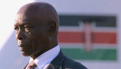 El expresidente de Kenia, Daniel Arap Moi, durante un viaje en 2002 en Sudáfrica.