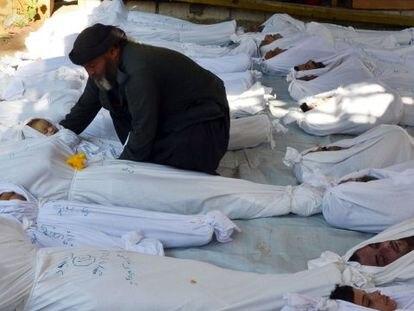 La oposición denuncia cientos de muertos por gas nervioso en Siria