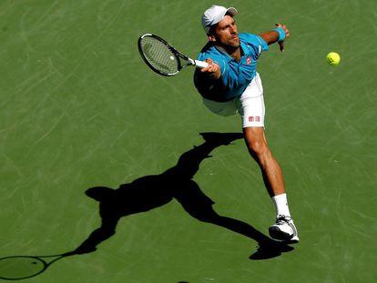 Djokovic, durante la final contra Raonic.