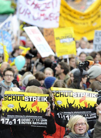 Manifestación contra el plan Bolonia en Berlín.