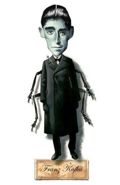 Ilustración del escritor checo Franz Kafka.