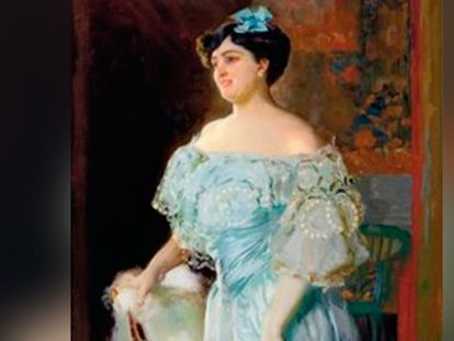 'Retrato de la tiple Isabel Brú', pintado por Joaquín Sorolla en 1904.