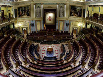 Salón de plenos del Congreso de los Diputados.