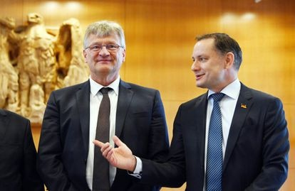 Los portavoces del partido de ultraderecha alemán AfD, Jörg Meuthen y Tino Chrupalla, en junio del año pasado.
