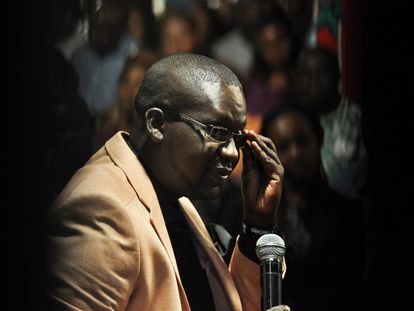 El cómico keniano Daniel Ndambuki, alias 'Churchill'.