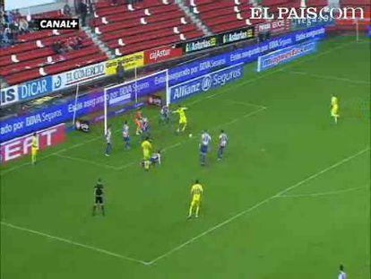 """El Villarreal arranca un punto ante el Sporting en la prolongación de un duelo vibrante. <strong><a href=""""http://www.elpais.com/buscar/liga-bbva/videos"""">Vídeos de la Liga BBVA</a></strong>"""