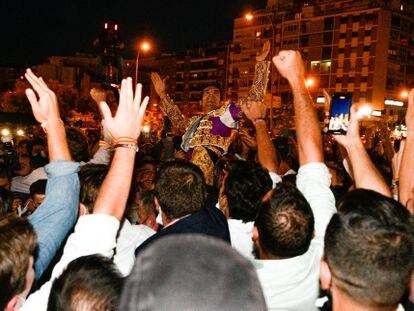 Emilio de Justo, a la salida de la plaza de Las Ventas el 2 de octubre.