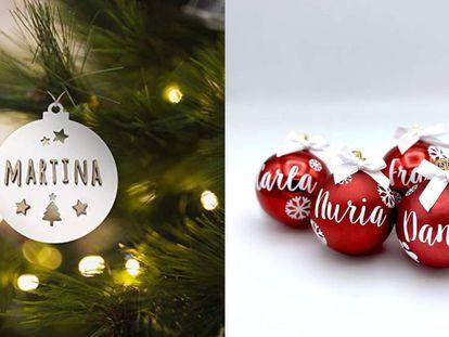 Seleccionamos varias bolas de navidad personalizables y fabricadas a la manera artesanal.