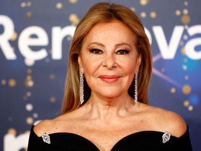 Ana Obregon, en la presentación de la programación navideña de RTVE en diciembre de 2020.