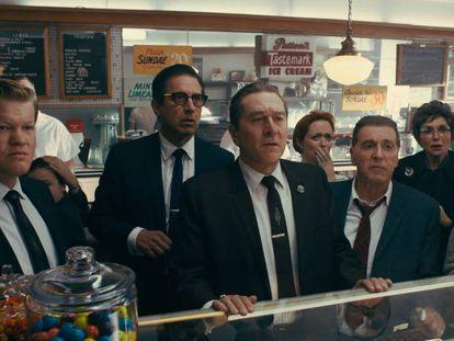 Una imagen de 'El irlandés'. En vídeo, imágenes de la película.