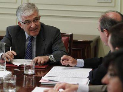 Gonzalo Moliner en una reunión de la Comisión Permanente del Consejo General del Poder Judicial (CGPJ), que él preside.