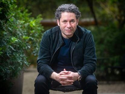 Gustavo Dudamel, nuevo director musical de la Ópera de París, retratado el miércoles en Barcelona.