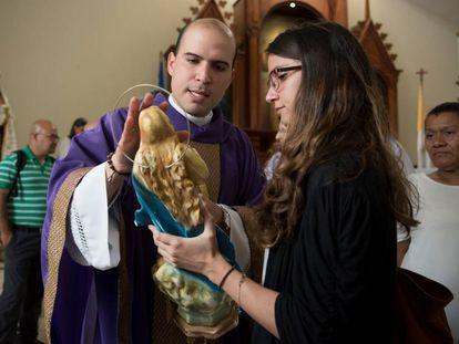 Erick Alvarado, vicario de la parroquia Divina Misericordia de Managua.