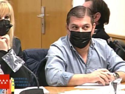 César  Román, durante la tercera sesión del juicio.