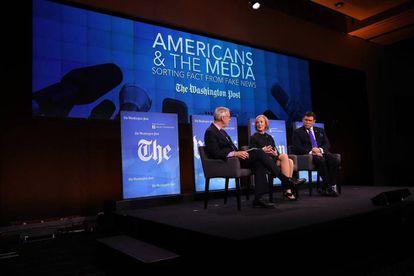 El periódico Washington Post  celebró este martes un evento sobre noticias falsas en Washington, Estados Unidos
