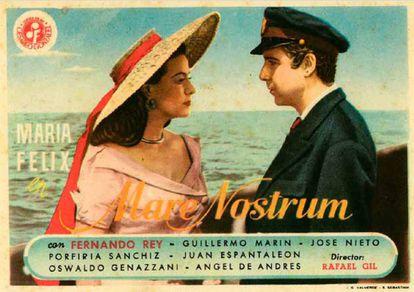 Cartel de la película 'Mare Nostrum', de Rafael Gil.