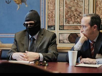Rodchenkov, declarando junto con su abogado, en la Comisión Helsinki.