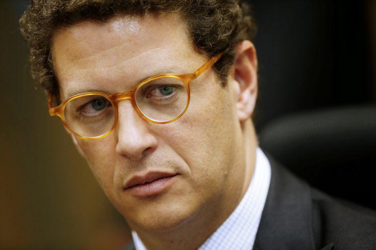 El ministro de Medio Ambiente, Ricardo Salles, en una ceremonia en Brasilia.