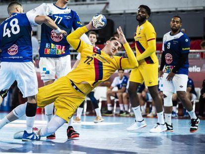 Ludovic Fabregas, del Barcelona, en la pasada final de Copa contra el Benidorm.