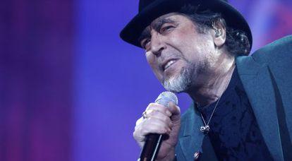 Joaquín Sabina, durante el concierto en el Barclaycard Center de Madrid.