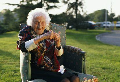 La anciana Jeanne Calment.