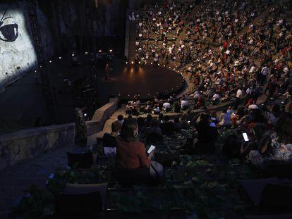 Inauguración del Festival Grec de 2020 en Barcelona.