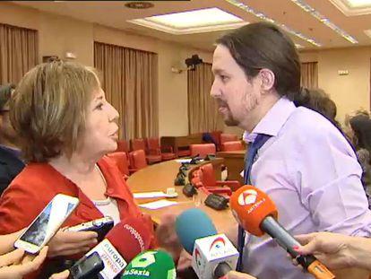 Rifirrafe entre Celia Villalobos y Pablo Iglesias
