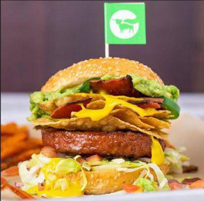 Una de las hamburguesas que Beyond Meat promociona en su web