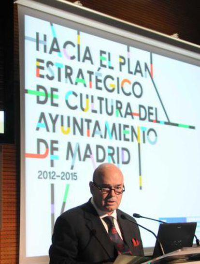 Fernando Villalonga, durante la presentación del plan 2012-2015.