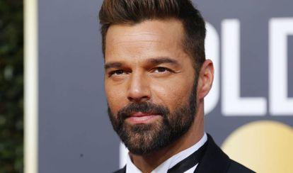 Ricky Martin, en los Globos de Oro de 2019.