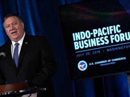 Pompeo, en su discurso este lunes en Washington