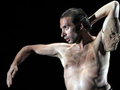 El bailaor Israel Galván, durante una actuación.
