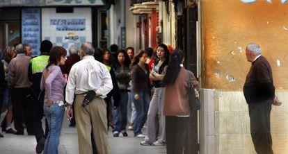 Trabajadoras del sexo en las calles de Velluters.